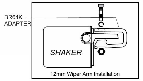 Shaker Support - Wiper Shaker on